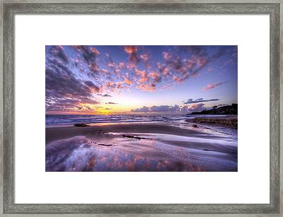 Fall Ocean Colors Framed Print by Sean Foster