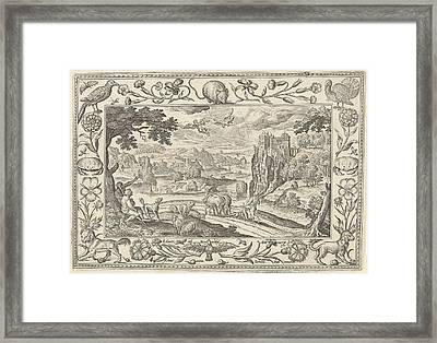Fall Of Icarus, Adriaen Collaert Framed Print by Adriaen Collaert And Claes Jansz. Visscher (ii) And Eduwart Van Hoeswinckel