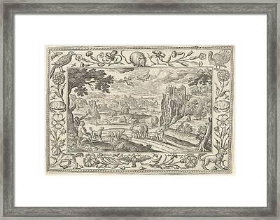 Fall Of Icarus, Adriaen Collaert Framed Print