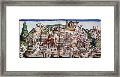 Fall Of Jerusalem And The Destruction Framed Print