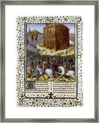 Fall Of Jerusalem Framed Print by Granger