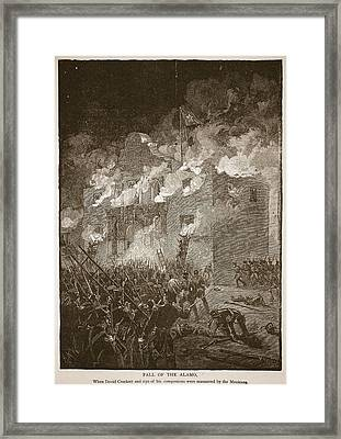 Fall Of The Alamo, From A Book Pub. 1896 Framed Print by Alfred R. Waud