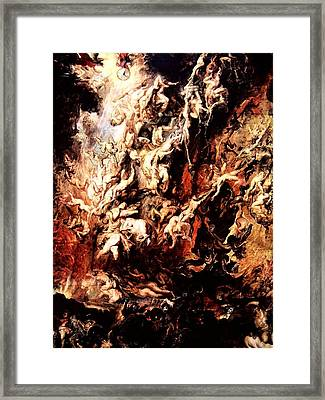 Fall Of The Rebel Angels Framed Print