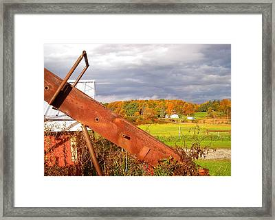 Fall On Bread And Butter Farm Framed Print