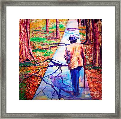 Framed Print featuring the painting Fall On Highway 98' by Ecinja Art Works