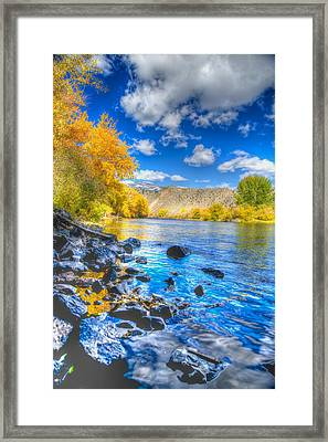 Framed Print featuring the photograph Fall On The Big Hole River  by Kevin Bone
