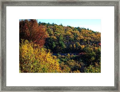 Framed Print featuring the photograph Fall On The Blue Ridge Parkway by Cathy Shiflett