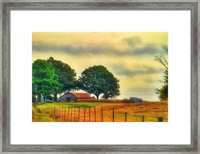 Landscape - Barn - Fall On The Farm Framed Print by Barry Jones
