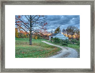 Fall On The Farm Framed Print