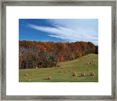 Framed Print featuring the photograph Fall On The Farm by Jemmy Archer