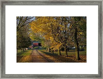 Fall On The Farm Framed Print by John-Paul Fillion