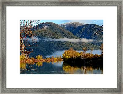 Fall On The Kootenai Framed Print by Annie Pflueger