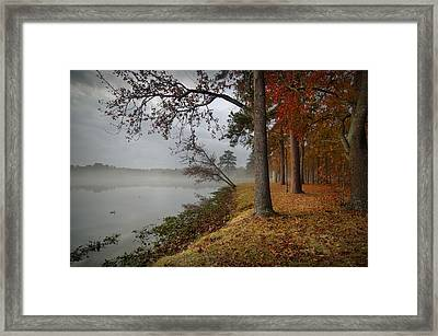 Fall On The Lake Framed Print by Linda Unger