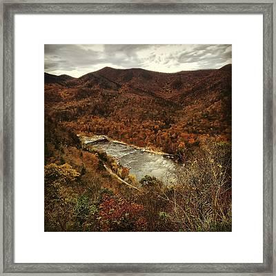 Fall On The Maury Framed Print