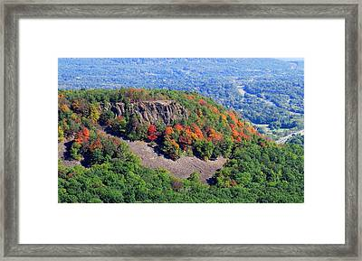 Fall On The Mountain Framed Print by Stephen Melcher