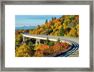 Fall On The Parkway Framed Print