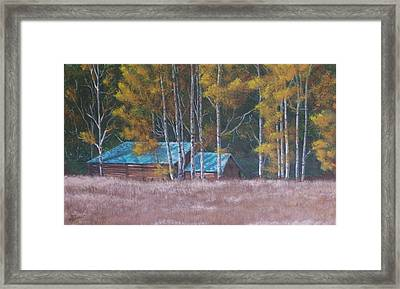 Fall On The Ranch Framed Print by Gene Ritchhart