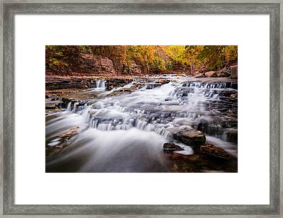 Fall On The River Framed Print