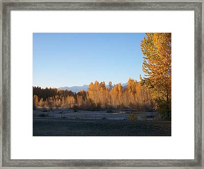 Framed Print featuring the photograph Fall On The River by Jewel Hengen