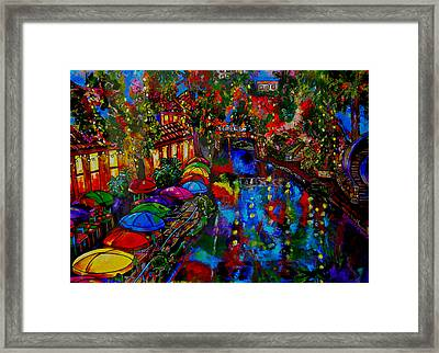 Fall On The Riverwalk Framed Print by Patti Schermerhorn