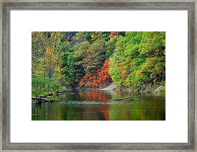 Fall Painting Framed Print by Frozen in Time Fine Art Photography