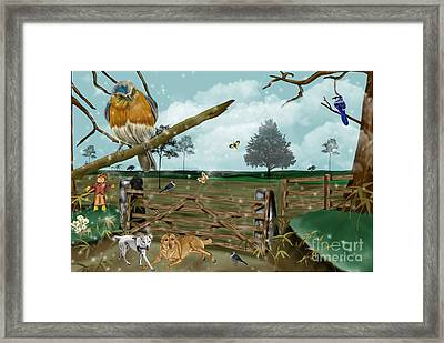 Fall Pastures Framed Print by Karen Sheltrown
