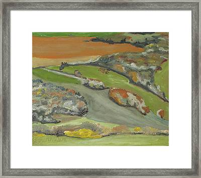 Fall Patchwork Framed Print by Francois Fournier