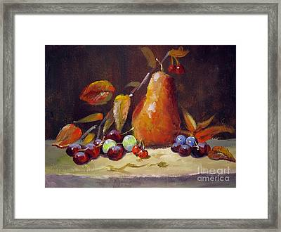 Fall Pear Framed Print
