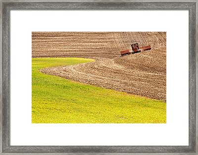 Fall Plowing Framed Print by Latah Trail Foundation