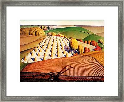Fall Plowing Framed Print by Pg Reproductions