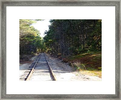 Fall Railroad Track To Somewhere Framed Print
