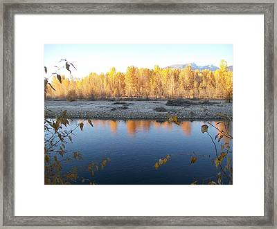 Fall Reflection 2 Framed Print by Jewel Hengen