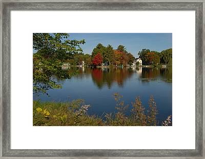 Framed Print featuring the photograph Fall Reflection by Caroline Stella