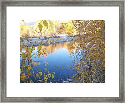 Framed Print featuring the photograph Fall Reflection by Jewel Hengen