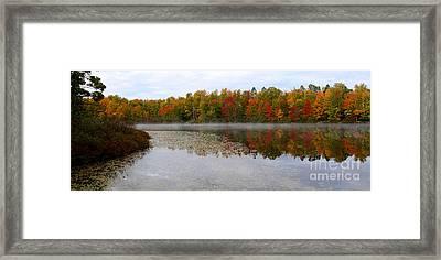 Fall Reflection Framed Print by Nancy TeWinkel Lauren
