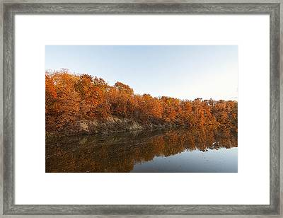 Fall Reflection Framed Print by Robin Williams