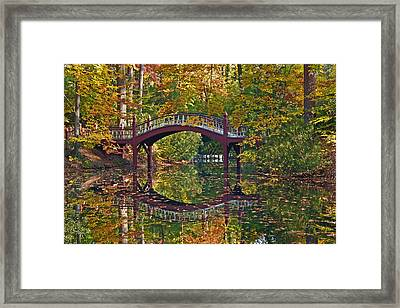 Framed Print featuring the photograph Fall Reflections At Crim Dell by Jerry Gammon
