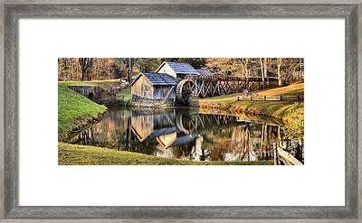 Fall Reflections At Mabry Mill Framed Print