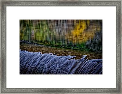 Fall Reflections At Tumwater Spillway Framed Print