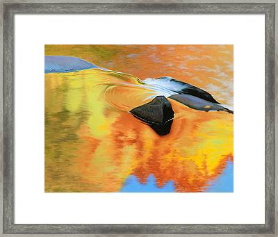 Fall Reflections Framed Print by Bruce Richardson