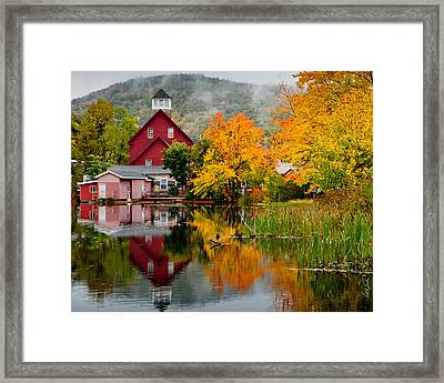Fall Reflections Framed Print by Carl Jacobs