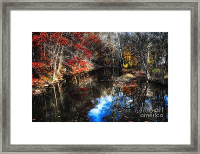 Fall Reflections In A Canal Framed Print