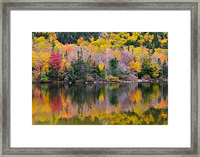 Fall Reflections In Echo Lake Framed Print