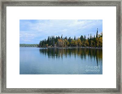 Fall Reflections Framed Print by Kathleen Struckle