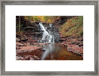 Fall Reflections Of F L Ricketts Falls Framed Print by Gene Walls