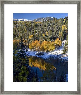 Fall Reflections On Bobcat Pass Framed Print