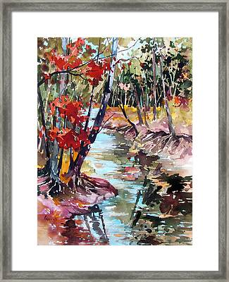Fall Reflections Framed Print by Rae Andrews