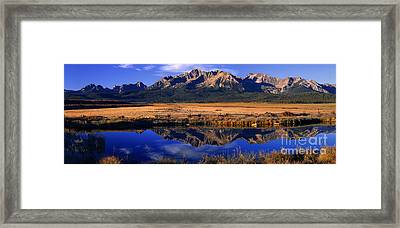 Framed Print featuring the photograph Fall Reflections Sawtooth Mountains Idaho by Dave Welling