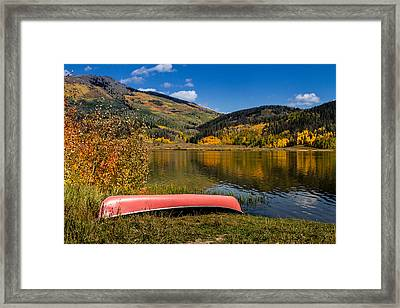Fall Reflections Framed Print by Teri Virbickis