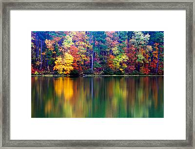 Fall Reflections Framed Print by Tony  Colvin